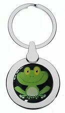 CUTE FROG CHROME KEYRING