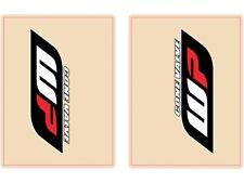 Flu Designs WP Cone Valve Red Black Upper Fork Decals Fork Stickers 01018
