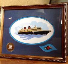 Disney Cruise Line 2002 7 Pin Set Framed Ship Nautical