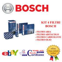 KIT FILTRI TAGLIANDO BOSCH ALFA ROMEO GIULIETTA 1.6 JTDM JTD 105 120 CV