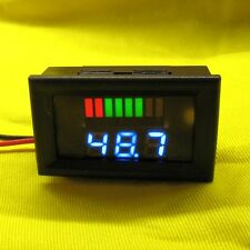 Battery Capacity Volt Meter 48V DC Lead Acid LED State Tester Solar Car Bike  8b