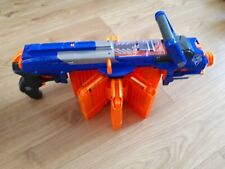 NERF N-STRIKE ELITE Blue Hail Fire Blaster Toy With 8 Mags