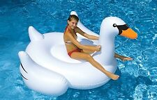 Giant Swan Pool Inflatable Ride On Float Lounge Double Mat Swimline 90621