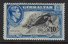 GIBRALTAR : 1938   10/- black and blue perf 14  SG 130 mint