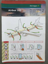 Aer Lingus Airbus A321 Safety Card