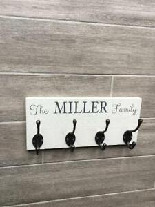 Personalised Coat Hook family sign, Family name coat Hooks,Coat hooks,Hooks