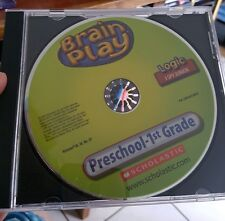 Brain Play - Preschool -LOGIC - 1st Grade (disc only) PC GAME - FREE POST