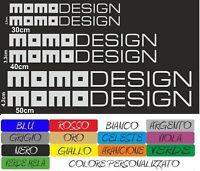 KIT 6 ADESIVI MOMO LANCIA Y DESIGN SPORTELLO CASCO  AUTO MOTO COD131 NO SPECCHIO