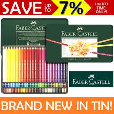 NEW 120 Faber-Castell Polychromos Artist Colour Coloured Pencils Tin Set Case