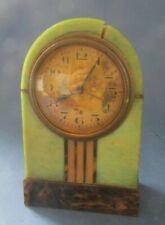 Reveil Ancien Art Deco  En Bakelite. Fonctionne Et Sonne Bien french alarm clock