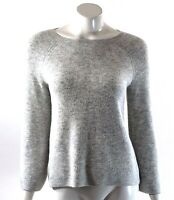 Ann Taylor LOFT Sweater Size Small Light Gray Bell Sleeve Pullover Solid Womens