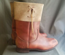 Vintage Mens Brown Full Grain Leather RM WILLIAMS Tall Biker Boots Sz-10.5