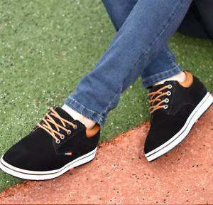 Hot Mens Loafers Suede Hidden Heel High Top Trainers Casual Ankle Elevator Shoes
