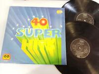 "40 SUPER HITS HOTEL CALIFORNIA ROCKOLLECTION 1977 - 2 X LP VINILO 12"" VG/VG"