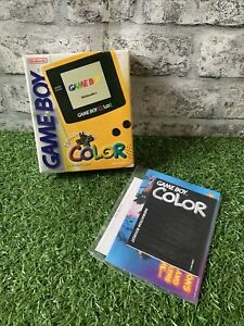 Empty Nintendo Game Boy Color Yellow Box Only - No System