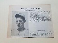 Max Macon & Ben Hassler Columbus Red Birds Baseball 1936 Scrapbook Card
