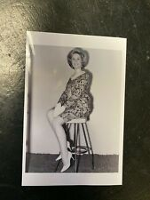 Vintage Photo, Sexy amateur model,  short skirt & long legs in Heels, posing