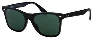 Ray Ban Blaze Wayfarer Sunglasses RB 4440NF 601/71 44 Black   Green Classic Lens