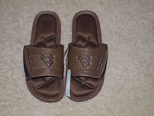 WVU mens leather sandals, adult Medium size 9-10