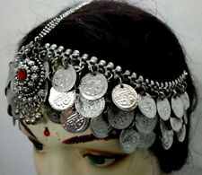 Afghan Tribal Coins Head Piece Belly Dance Costume Jewelry Damni Tika Kuchi Boho