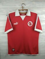 Switzerland soccer jersey large 2002 2003 home shirt football Puma