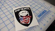 Infidel Decal AK AR15 Pistol Tactical Rifle Rights NRA Second Amendment 2A