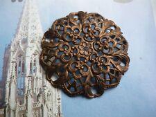 für Klosterarbeit? traumhaftes Ornament in kupfer - 45,5 mm RONDELL filigran (d)