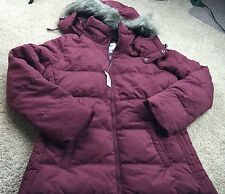 NWT OLD NAVY Women's Frost Free Hooded Jacket Coat Bomber Puffer Large LG