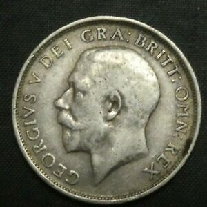 1914 Great Britain Silver Shilling GEORGE V KM# 816