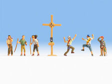 NOCH 15874 Spur H0, Figuren Bergwanderer mit Gipfelkreuz #NEU in OVP##