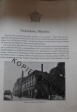 Pschorr-Bräu Brauerei München 8 Seiten Historie anno 1926 Reklame Bildbericht