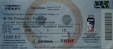 mint TICKET Eishockey WM 12.5.2015 Finnland - Russland in Ostrava