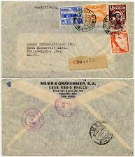 PERU WW2 to USA 8 to 10 DEC 1941 PRINTED ENVELOPE CASA RADIO PHILCO REGISTERED
