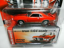 1:64 AUTO WORLD Premium B = Orange 1969 Pontiac Firebird Trans Am *NIP*
