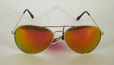 Sonnenbrille Sunglasses Pilot Aviator Sommer Schutz UV 400 verspiegelt Metall co