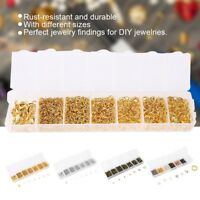 1500Pcs/Box Open Jump Ring Set Gold Split Rings Connectors Jewelry DIY Making