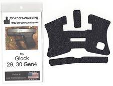 Tractiongrips rubber grip tape overlay for Glock 29 Gen4, 30 Gen4 / black grips