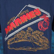 NOS vintage 80s USMC US MARINE CORPS PAPER THIN T-Shirt MEDIUM military army war