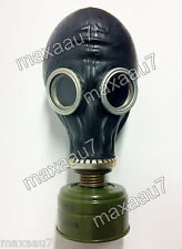 soviet russian black gas mask GP-5 size 2 MEDIUM with filter 40mm