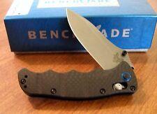 BENCHMADE New Carbon Fiber Handle Nakamura Plain Edge S90V Blade Knife/Knives