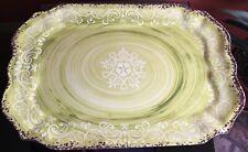 "IL MULINO Melamine Platter 18.25"" x 12.5"" Green,White,Brown"