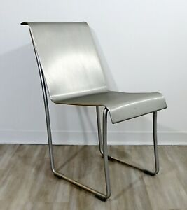 Contemporary Modernist Emeco Superlight Brushed Aluminum Chair by Frank Gehry