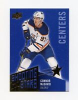 18/19 UPPER DECK SHOOTING STARS BLUE #SSC-1 CONNOR MCDAVID OILERS *59161