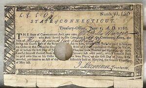State of Connecticut  Revolutionary War Bond. 1780 (BI#BX-BSM/OFFC)