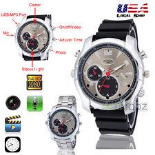 Black HD 1080P 8GB Night Vision Gel Spy Watch Camera Video DVR Recorder Camcoder