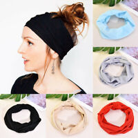 Boho Women Men Yoga Sports Wide Headband Elastic Hair Band Head Wrap Wristband