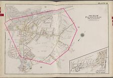 1911 WESTCHESTER NY PLEASANTVILLE AQUADUCT OF NYC COPY ATLAS MAP