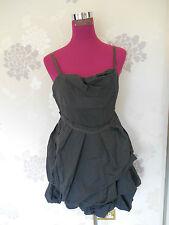 Stunning  All Saints Pirro  Dress  Charcoal Size 10 VGC