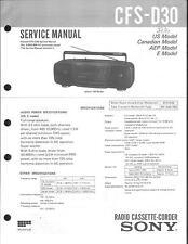 Sony Original Service Manual für CFS-D 30