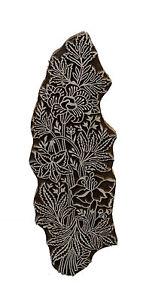 Stampo Inchiostro Legno A Batik 26 CM Fiore Di Jaipur Rajasthan India 4965 FS10